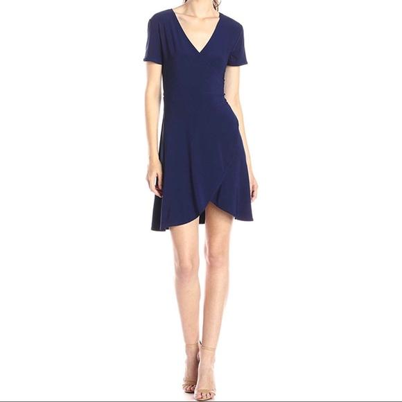 Dresses & Skirts - Navy Ballerina Wrap Dress XL